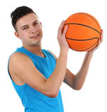 Guy with a basketball Royalty Free Stock Images