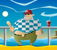 Guy_at_beach Stock Images