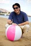 Guy with a beachball Stock Image