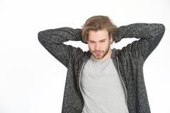 Guy with beard and stylish hair. Stock Photos
