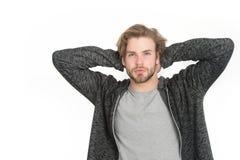 Guy with beard and stylish hair. Stock Image
