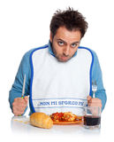Guy with bib Royalty Free Stock Photography