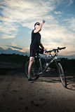Guy on bicycle Royalty Free Stock Photos