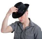 The guy in the black hat Stock Photos
