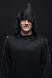 Guy in a black robe Royalty Free Stock Photo