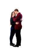 Guy blonde and brunette girl in pants Stock Images