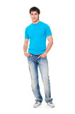 Guy in blue t-shirt Royalty Free Stock Photo