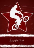 Guy on a bmx and star. Guy on a bmx and red star Stock Photo
