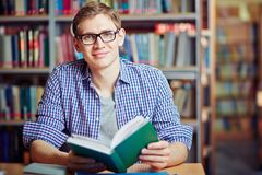Guy with book Stock Image