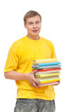 The guy with the books Royalty Free Stock Photos