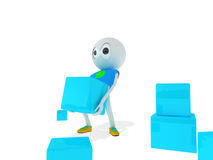 Guy with boxes-. The guy lift s boxes stock illustration