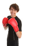 Guy in boxing gloves Royalty Free Stock Image