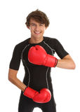 Guy in boxing gloves Stock Photo