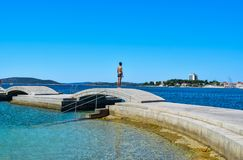 The Vodice cityscape stock images