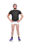 Guy in briefs Stock Photography