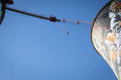 Guy bungee jumping from the Orlando Towers in Soweto Stock Photo