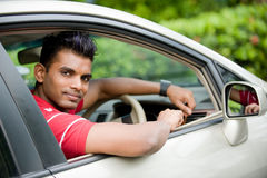 Guy In Car Royalty Free Stock Image