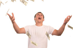 Guy with cash Royalty Free Stock Image