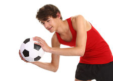 Guy catching football Royalty Free Stock Photos