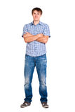Guy in a checkered shirt,  Stock Photos