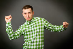 Guy in a checkered shirt Stock Image
