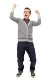 Guy clenching fists Stock Photo