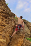 Guy climbing Royalty Free Stock Images