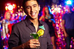Guy with cocktail Stock Photography
