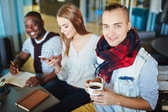 Guy with coffee Royalty Free Stock Image