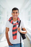 Guy in college Royalty Free Stock Image