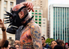 Guy in costumes in Zombie Walk Sao Paulo Royalty Free Stock Images