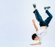 Guy dancing breakdance Stock Images