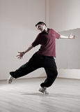 Guy dancing in dance studio Stock Photo