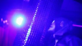 Guy dancing in a nightclub. stock video footage