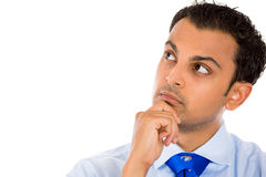 Guy day dreaming, deep in thought Stock Image