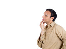 Guy daydreaming happy thoughts Royalty Free Stock Photography