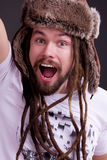 Guy with dreadlocks Stock Photo