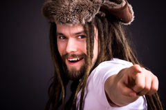 Guy with dreadlocks Royalty Free Stock Photos