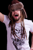 Guy with dreadlocks Royalty Free Stock Photo