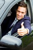 Guy driving his car Royalty Free Stock Image