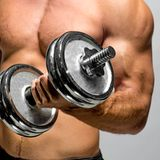 Guy with dumbbell Royalty Free Stock Photos