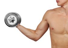 Guy with dumbbells Royalty Free Stock Images