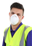 Guy with dust mask Stock Images