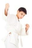 Guy engaged taekwondo Royalty Free Stock Image