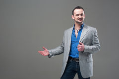 Guy in everyday jacket and jeans Stock Image