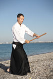 Guy exercising aikido Royalty Free Stock Photos