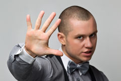 Guy extends hand Stock Photography