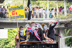 Guy Fawkes anti corruption in Thailand Stock Photo