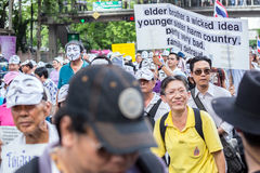 Guy Fawkes anti corruption in Thailand Stock Photos