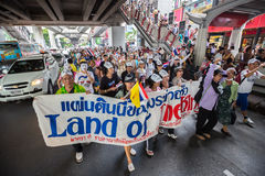 Guy Fawkes anti corruption in Thailand Royalty Free Stock Photo